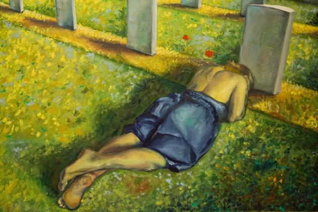 """""""La battaglia è finita"""", tecnica mista su tela, 100x150 cm, 2009 © tutti i diritti riservati, Martina Donati"""